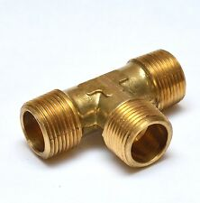 "Male Tee 3/4"" NPT MPT Brass Pipe Fitting Fuel, Air, Water, Oil, Gas FasParts"
