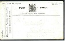 GB Post-WW1 POW Card France German Prisoner GERMANY Darmstadt 1919 38c.7