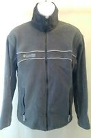 Columbia Zip Up Fleece Interchange Jacket Mens Large Gray Coat Zippered Pockets