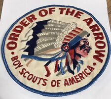 "Vintage 1950s Order of the Arrow 5.5"" Large Jacket Patch Boy Scouts BSA"