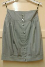 WOMENS STUNNING BRAND NEW LIGHT GREY BUTTON SKIRT SIZE 10.  OFFERS WELCOME,