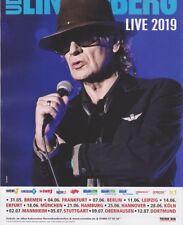"""Tour 2019 UDO LINDENBERG  """"Live 2019"""" DIN A4 Poster Plakat Sammler Kein Ticket"""
