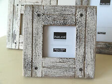 Rustic Photo Picture Frames, Wood with Distressed Paint Finish, Square or 6x4