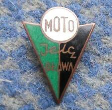 MOTO JELCZ OLAWA POLAND FOOTBALL CYCLING WEIGHTLIFTING 1980's SMALL BRONZE PIN