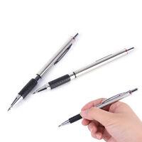 1x 2.0 mm plata lápiz mecánico lápiz automático pluma escuela suminist*ws