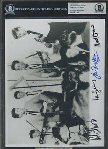 Rod Davis Colin Hanton John Lowe Len Garry Signed Photo AUTO Autograph BGS BAS 3