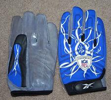 Reebok NFL Equipment Football Tackle Gloves Royal/White- 5XL