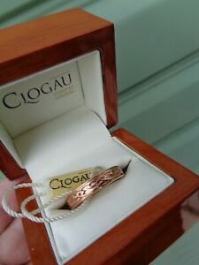 Unused Clogau Welsh 9ct Rose Gold Celtic Eternal Love Annwyl Ring  -  size  Z