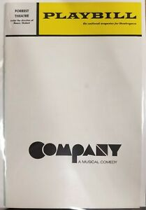 1971 Playbill Company A Musical Comedy Forrest Theatre