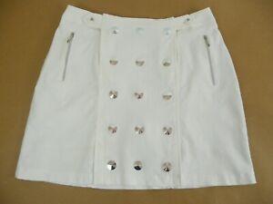 Jamie Sadock Golf Skort/Skirt Size 8 White w/ Metal Accents - Excellent!
