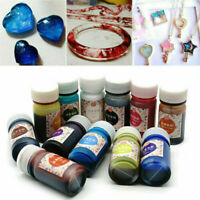 12 Bottles 10g Epoxy UV Resin Dye Colorant Resin Pigment Mixed Color Art Craft