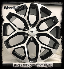 "20 x9"" black 2016 Chevrolet Suburban 1500 LTZ OE replica wheels Snowflake 6x5.5"