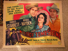 """West Of Tombstone 1942 Columbia western 22x28""""poster Charles Starrett"""