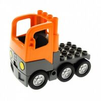 1 x Lego Duplo LKW orange neu-dunkel grau Chassis mit Kabine Laster Auto Unterba