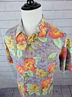 KENNINGTON LTD Men's Hawaiian Aloha Floral Short Sleeves Shirt size Large L