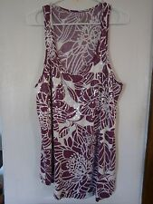 PURPLE & WHITE SPARKLE TUNIC SIZE 18-20