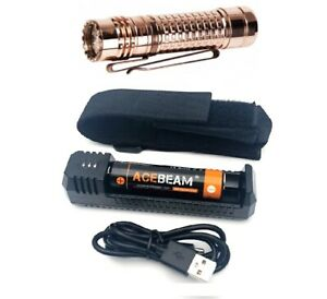 Acebeam TK18 CU with 3 x OSRAM LEDs Flashlight + holster+ battery + UI1 charger