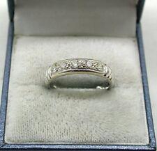 BELLA 8ct oro bianco e diamante metà eternità anello