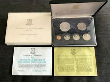 1973 British V.I.-1st Official Proof Set -6 Coins includes Silver Dollar [B]
