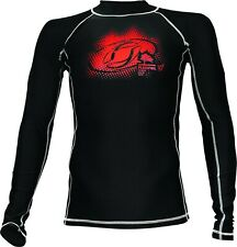 NEW Flexifoil Premium Quality Long Sleeved Rashguard Rash Vest - Black - XL