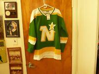 NHL Minnesota North Stars Hall of Fame Center #7 Neal Broten Vtg Jersey