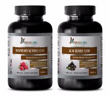 Fat loss cleanse - RASPBERRY KETONES – ACAI BERRY COMBO - acai gel capsules