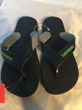 NEW Havaianas Dynamic Rubber Flip Flop, Black, Men Size 13   $32