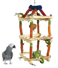 *NEW* JAVA DOUBLE TOWER MEDIUM PARROT CAGE TOY AFRICAN GREY AMAZON PARROT 4603A