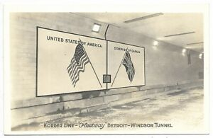 WINDSOR, ONTARIO / DETROIT MICHIGAN Border Line - Detroit - Windsor Tunnel