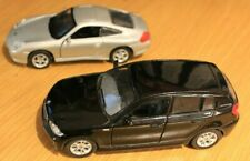 BMW Series 1 (1:34) and Porsche 911 Carrera 4S (1:38) diecast models  - unboxed