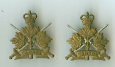 Canada Forces Queens Crown General List  Collar Badge Pair