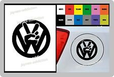 For Volkswagen VW PEACE 1 x Vinyl Sticker Fuel Cap - Fits GOLF POLO PASSAT 100mm