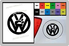 Pour Volkswagen VW Peace 1 x Vinyle Autocollant bouchon de carburant-Compatibles avec GOLF POLO PASSAT 100 mm