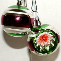 Christmas Ornament KURT ADLER Glass COLOMBIA KSA Ball INDENT Feather Tree #02