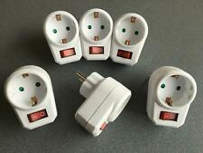 6 schaltbare Steckdosen mit Schalter Steckdosenschalter Stecker Steckerschalter