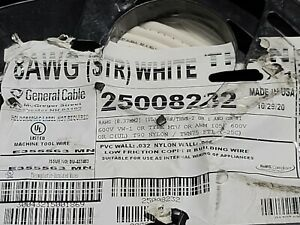 General Cable #8awg 19 Stranded THHN/THWN-2/MTW Building Wire Cable White /100ft