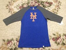 Majestic New York Mets Men's Blue Gray T-Shirt 76005LGD Size M NWT