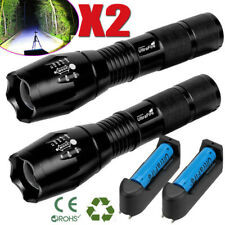Tactical Police Zoomable Focus  LED High Power Flashlight 18650 Torch Lamp