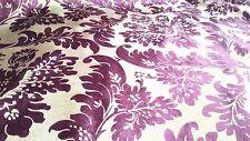 ELEGANT DESIGNER UPHOLSTERY FABRIC-Bronzing velvet/ flannelette No.4 Mulberry