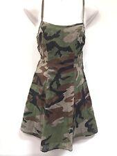 Denim & Supply Ralph Lauren Women Clothing Open Back Camouflage Slip Dress Sz 4