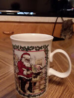 Dunoon Christmas Mug Victorian series Santa Stoneware Coffee hot chocolate cup