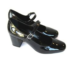 J-2695129 New Saint Laurent Vitello Black Patent Heel Shoe Size US 9 Marked 39