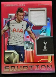 2020 Obsidian ASIA Gareth Bale Eruption GAME-USED Patch #d 04/44 Spurs 🔥🔥🔥