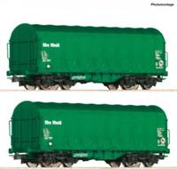 Roco 76049 HO Gauge Onrail Shimmns Tarpaulin Wagon Set (2) VI