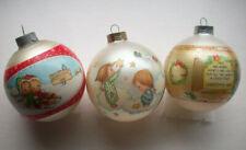 3 Vintage Hallmark Christmas Ornament balls Betsey Clark 1984 1985 1980