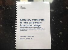 2017 Early Years Foundation Stage statutory framework EYFS april 17