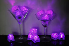 Set of 12 Litecubes Brand 3 Mode PINK Light up LED Ice Cubes