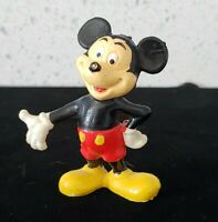 "Vintage Walt Disney Productions Hong Kong Rubber Mickey 2.25""  Inch Figurine"