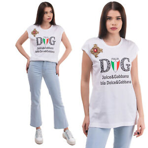 RRP €510 DOLCE & GABBANA Top Size IT 42 / S Embellished Silk Blend Embroidery