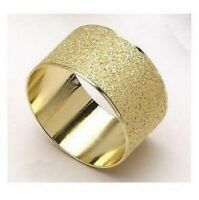Gold Textured Napkin Rings in Sets of Four, Six or Eight